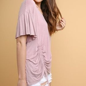 Blush side tie tunic